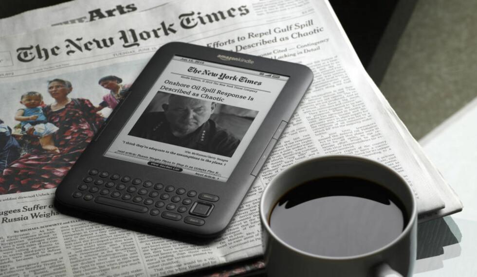 DELTAR I KAMPANJE: Norsk Journalistlag (NJ) er blant underskriverne på Dele, ikke stjele-kampanjens notat til kulturdepartementet, der departementet blant annet bes om å åpne for lovfestet adgang til lagring av trafikkinformasjon om norske nettbrukere. NJ mener dette er et nødvendig tiltak for å beskytte mediene mot ulovlig kopiering av redaksjonelle produkter.  Foto: Amazon