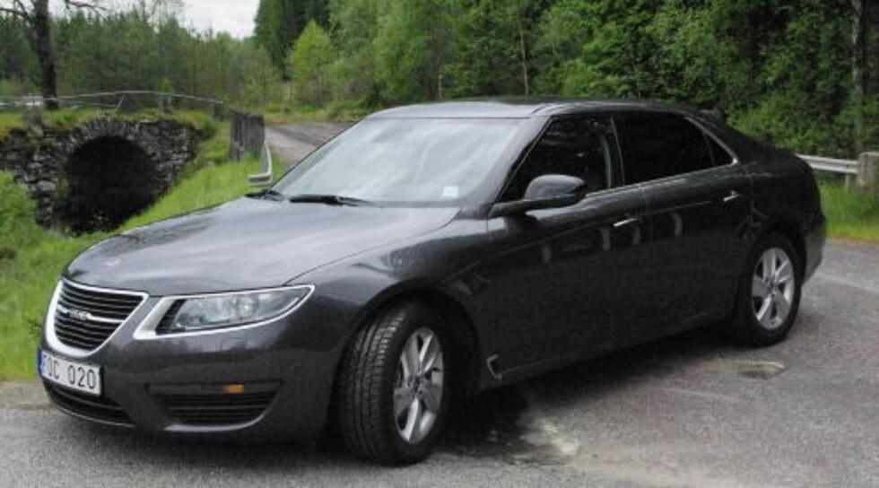 GOD NUMMER TO: Saab 9-5 ble presentert for verdenspressen i Trollhättan i juni i år.  Foto:  ØIVIND MONN IVERSEN