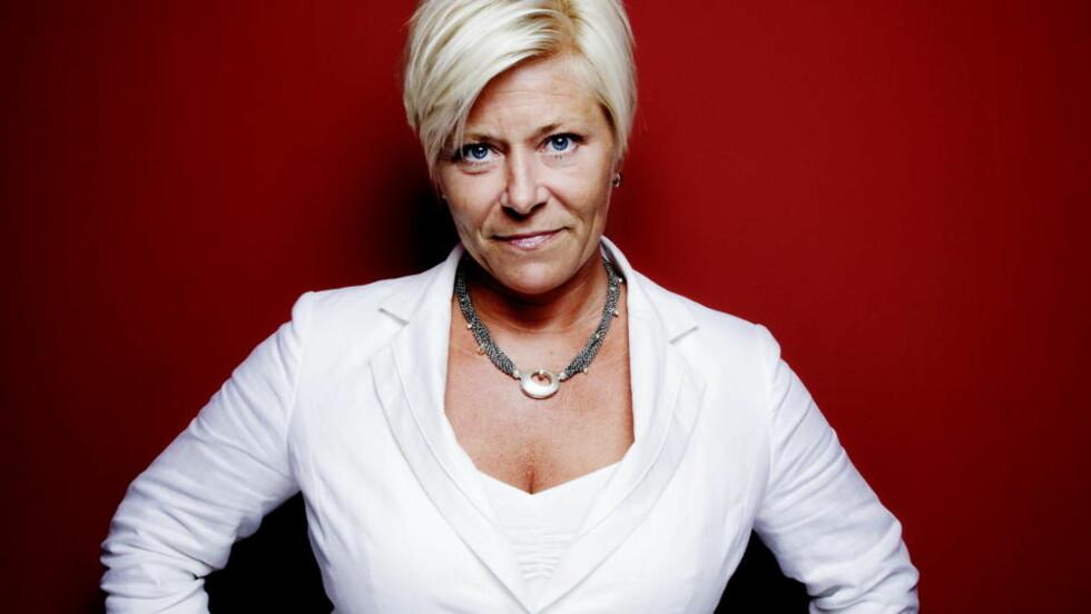UTHENGT: Forfatter Jan Chr. Næss liker ikke politikken til Siv Jensen og Fremskrittspartiet. Skurken i hans nye barnebok har fått navnet Sivert Jensen, og er gjennomført ond. Foto: Lars Myhren Holand / Dagbladet