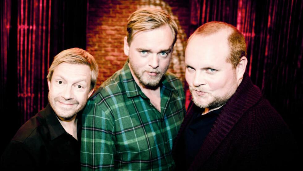 TRES HOMBRES: Trioen i «Radioresepsjonen» tar i kveld skrittet over til TV-formatet.