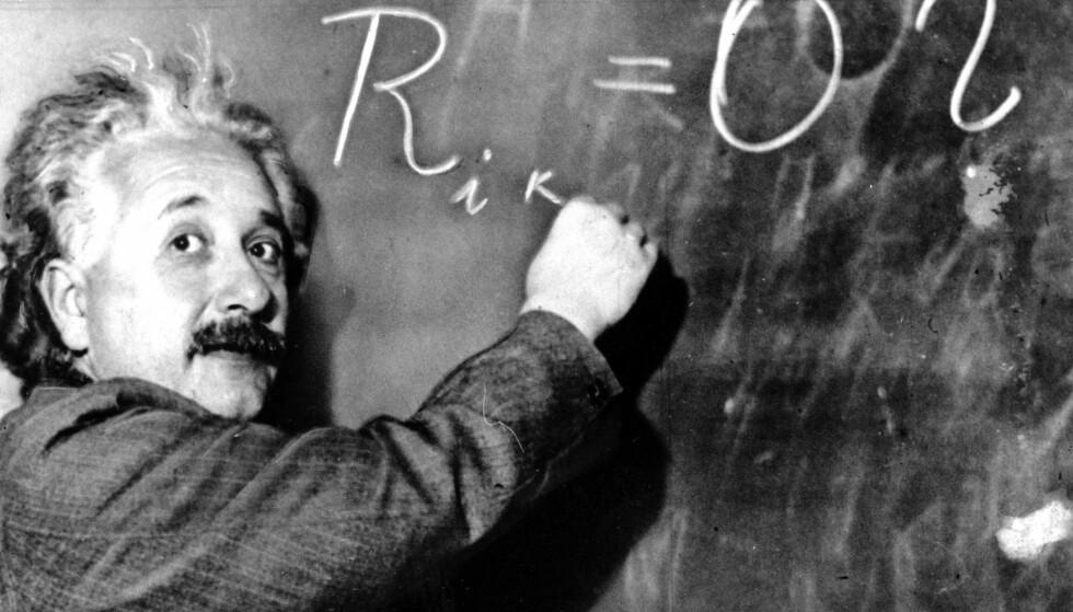 HAR DU DET SOM SKAL TIL? Du trenger ikke være i nærheten av å være like smart som Einstein for å klare denne testen, men du bør nok være litt fokusert. Foto: NTB Scanpix