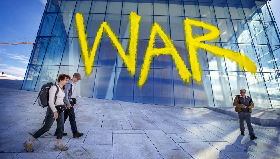 KRIG ELLER IKKE KRIG: Det har vært noen heltiske år med mye bråk og misnøye i og rundt Operaen, men kanskje ikke krig. Foto: Heiko Junge/NTB Scanpix