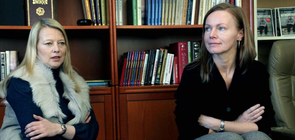 BRUKTE SPESIALSOLDATER: Anne Cecilie Hopstock (t.h.), her sammen med sin advokat Marte Svarstad Brotkorb, hjalp barna å rømme fra Khalid Skah. Foto: Jacques Hvistendahl/Dagbladet
