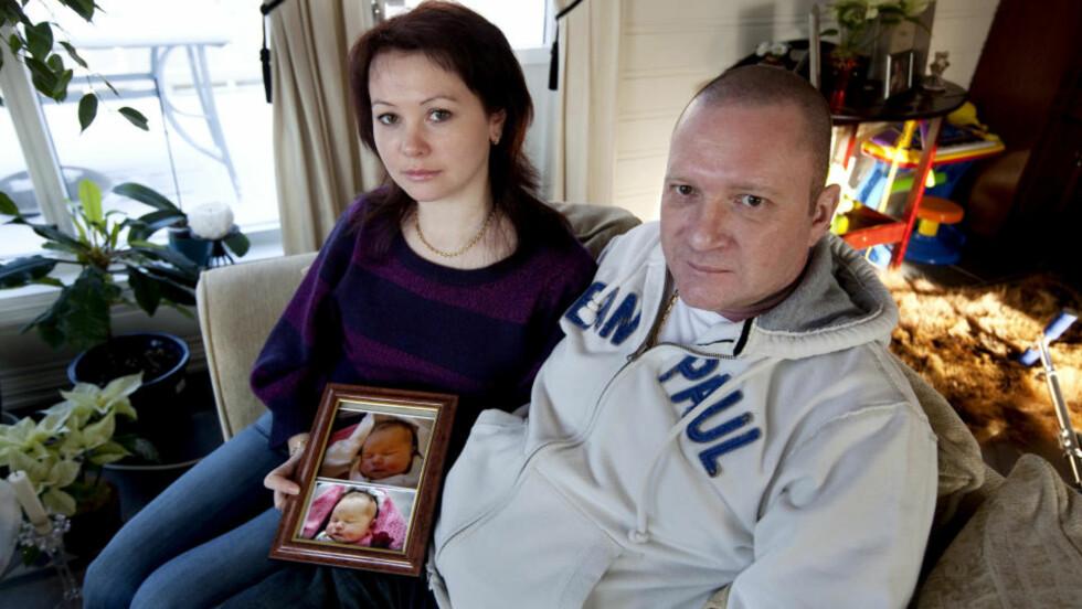 - KUNNE VÆRT REDDET: Julia og Rune Hovland mistet datteren Emilie dagen etter at hun ble født på Kongsberg sykehus lille julaften 2007. Foto: Henning Lillegård