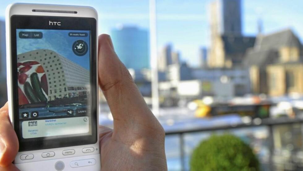 APPLIKASJON: Augmented Reality for arkitekturinteresserte, tilgjengelig via Layar. Foto: Kees Spruijt
