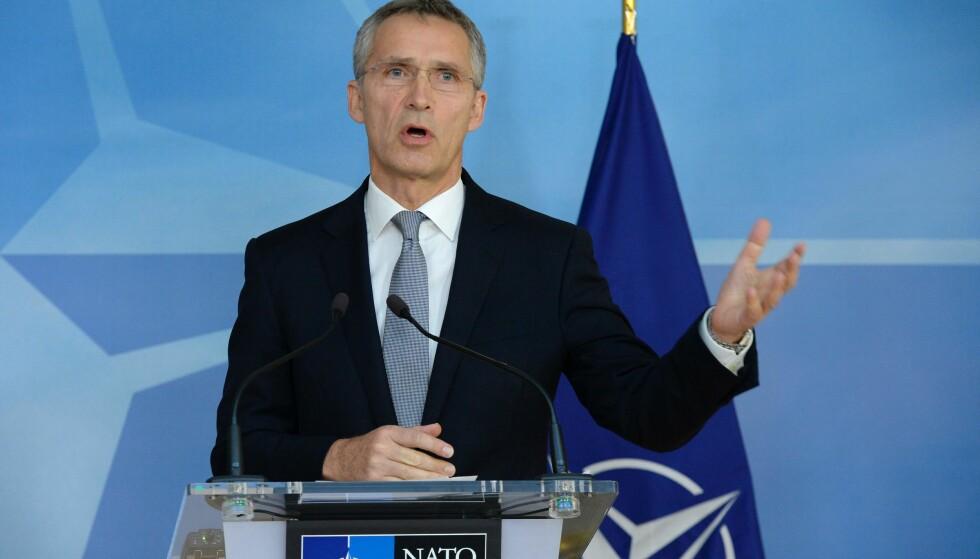 NATO-SJEF: Jens Stoltenberg. Foto: THIERRY CHARLIER/AFP/SCANPIX