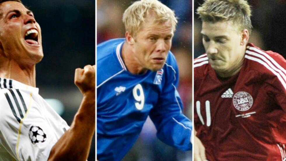 IKKE UMULIG: Ronaldo, Gudjohnsen, Bendtner. Ingen av dem er umulige for Norge, mener ekspertene Dagbladet har spurt.Foto: SCANPIX