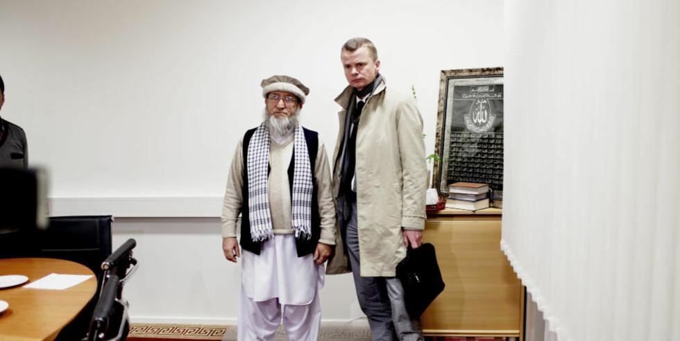 MØTTES I DAG:  Dagbladets konstituerte sjefredaktør Lars Helle møtte sjefimamen i Norge Mehbob ur-Rehman i forbindelse med Dagbladets publisering av Muhammed-karikaturer. Foto: STIAN LYSBERG SOLUM / SCANPIX