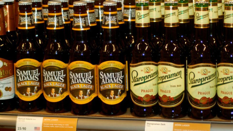 BILLIG ØL:  Systembolaget kan by på ølpriser veldig langt under Vinmonopolets. Foto: Svein-Erik Hole