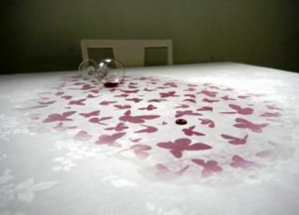 """BARE SØL: Duken """"Underfull"""" er laget av Kristine Bjaadal, og venter bare på å bli satt i produksjon Foto: Kristine Bjaadal"""