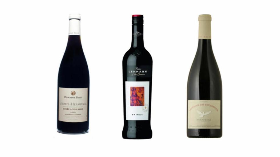 SEKSERE MED SYRAH: Flere av vinene i dagens test av Syrah-viner får terningkast seks, hvorav to til under 130 kroner.