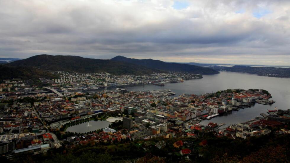 DYRT: Jada, det er Bergen, og her er det dyrest å bo på hotell av alle byer i Skandinavia. Foto: Paul S. Amundsen