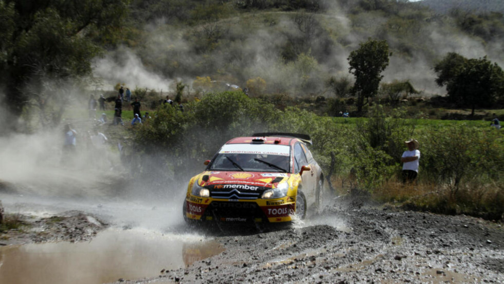 KJEMPESTART: Petter Solberg har fått en kjempestart på Rally Mexico, og leder rallyet sammenlagt etter fire fartsprøver.Foto: Tony Welam
