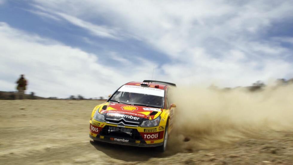 TILBAKE I TOPPEN: Petter Solberg leverte sin beste plassering siden Rally Akropolis i 2008 da han ble nummer to i Rally Mexico. Foto: Tony Welam