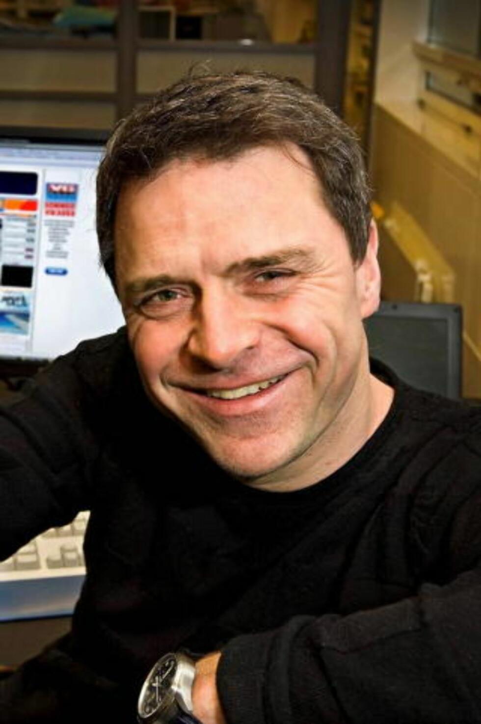 GRATULERER KONKURRENTEN: Espen Egil Hansen, ansvarlig redaktør i VG Nett.