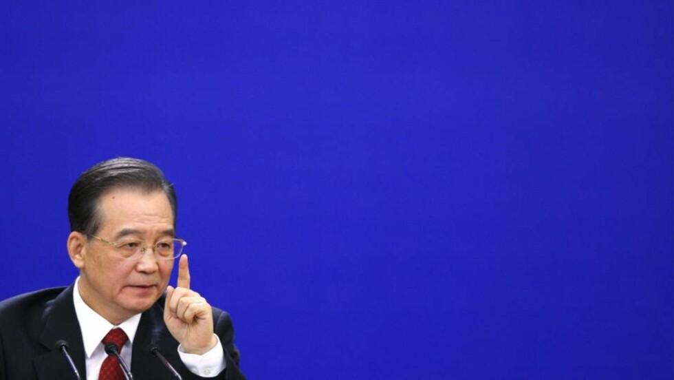 SJOKKERT STATSMINISTER: Kinas statsminister Wen Jiabao mener Kina ble utestengt av andre vestlige land under klimakonferansen i København i desember. EPA/HOW HWEE YOUNG
