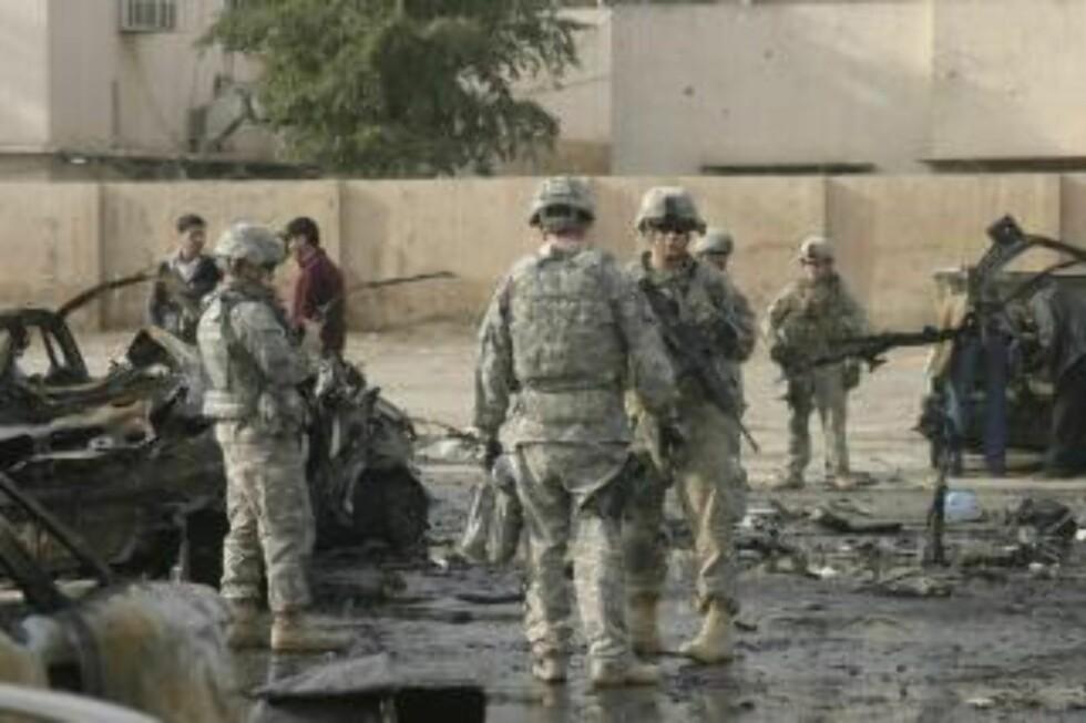 I IRAK: Amerikanske myndigheter etterforsker nå korrupsjon i forbindelse med gjenoppbygningen av Irak og skal ifølge The New York Times ha opprettet mer enn 50 nye saker de siste seks månedene.  Foto: EPA/SHEHAB AHMED/Scanpix