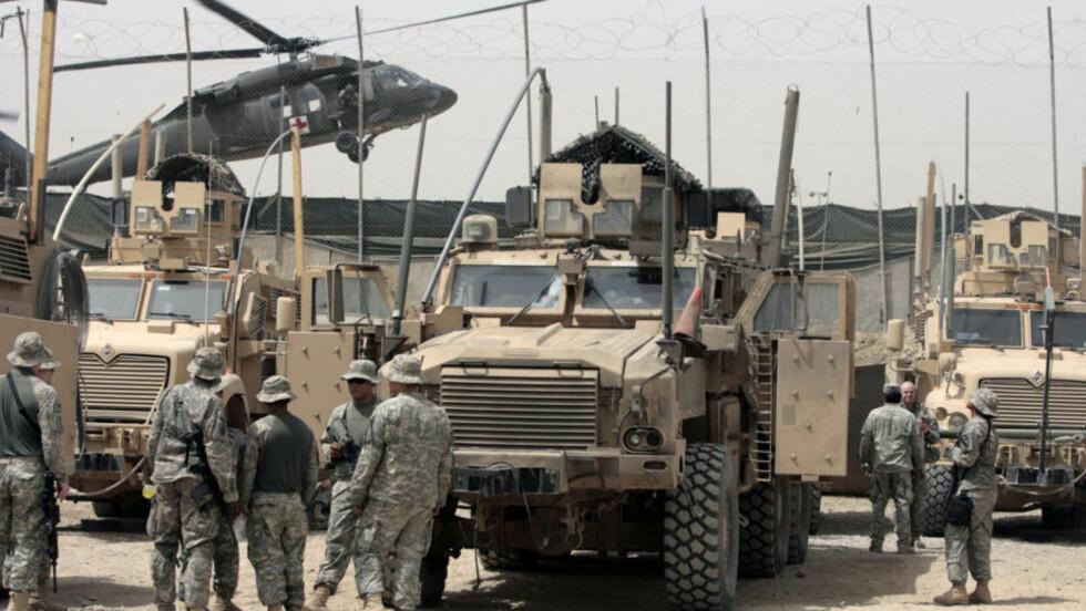 GJENOPPBYGNING: Hensikten med amerikansk tilstedeværelse i Irak er å bygge opp landet. Slik har det ikke alltid gått. Foto: AFP PHOTO/AHMAD AL-RUBAYE/SCANPIX