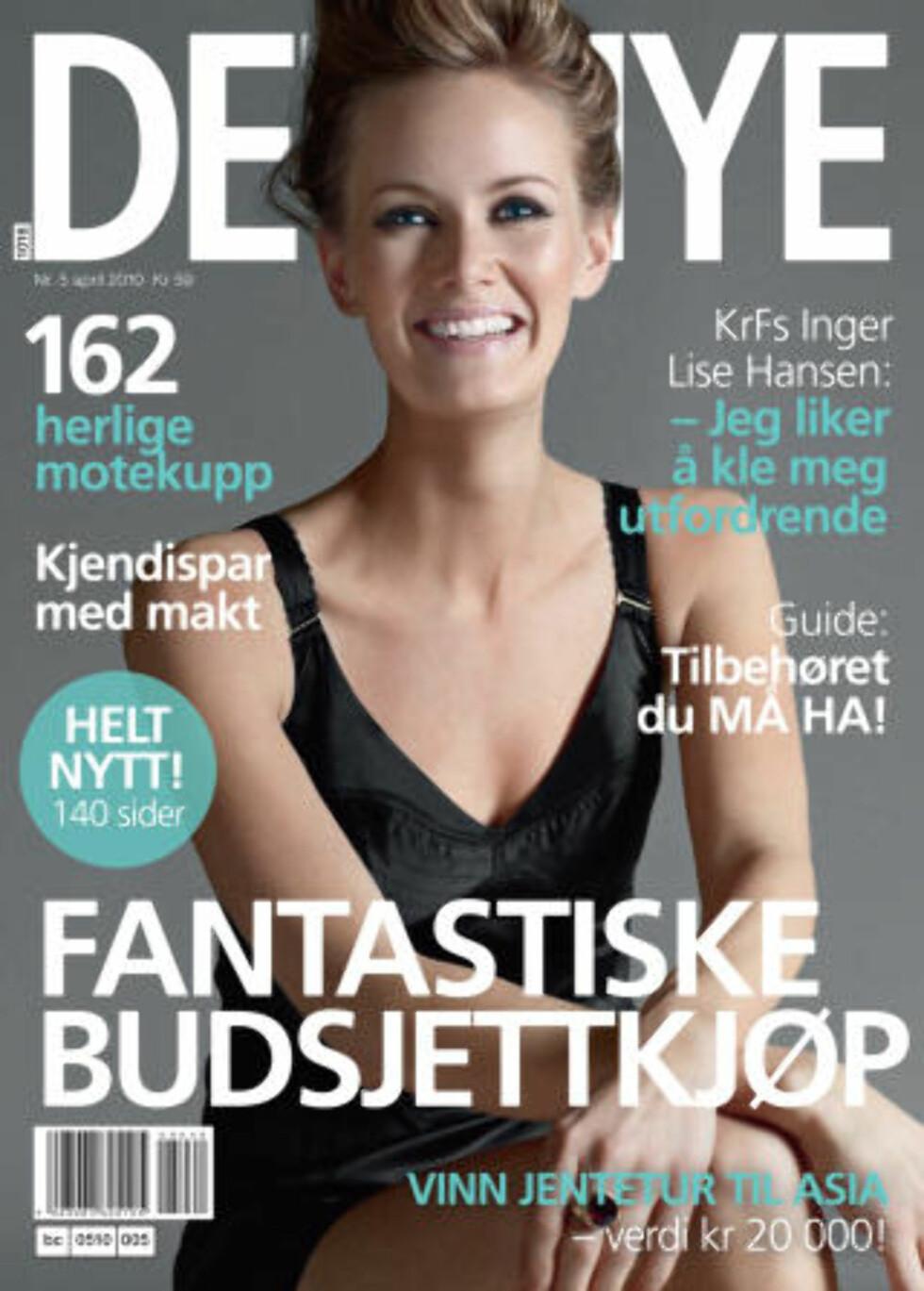ORGINALEN:   Bildene av KrF-nestleder Inger Lise Hansen ble opprinnelig tatt til dette portrettert i Det Nye. Foto: Fakimile av «Det Nye» 26. mars