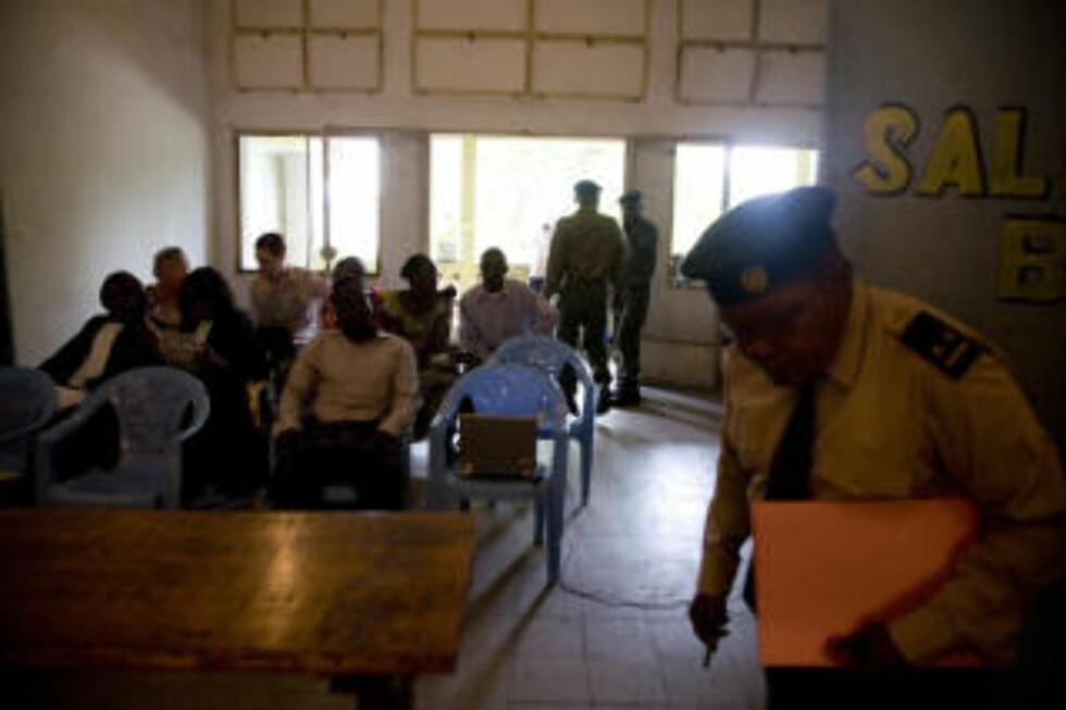 HØYESTERETTEN: Fra den militære høyesterettens lokaler i Kinshasa, der behandlingen av dødsdommene mot Tjostolv Moland og Joshua French skal starte i dag. Foto: Tore Bergsaker