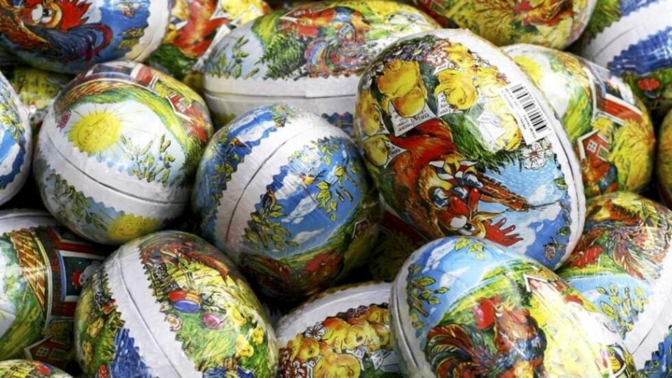 PÅSKEEGG: Kjøp et stort egg og fyll det med sunne og gode saker for hele familien. Illustrasjonsfoto: colourbox.no