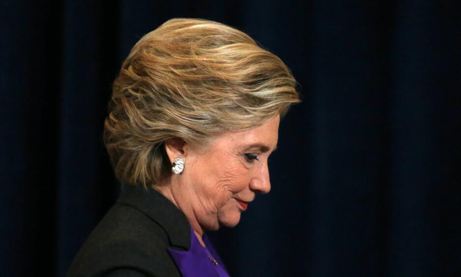 Hillary Clinton, her etter talen hun holdt dagen etter valgnederlaget. Foto: Carlos Barria / Reuters / NTB scanpix
