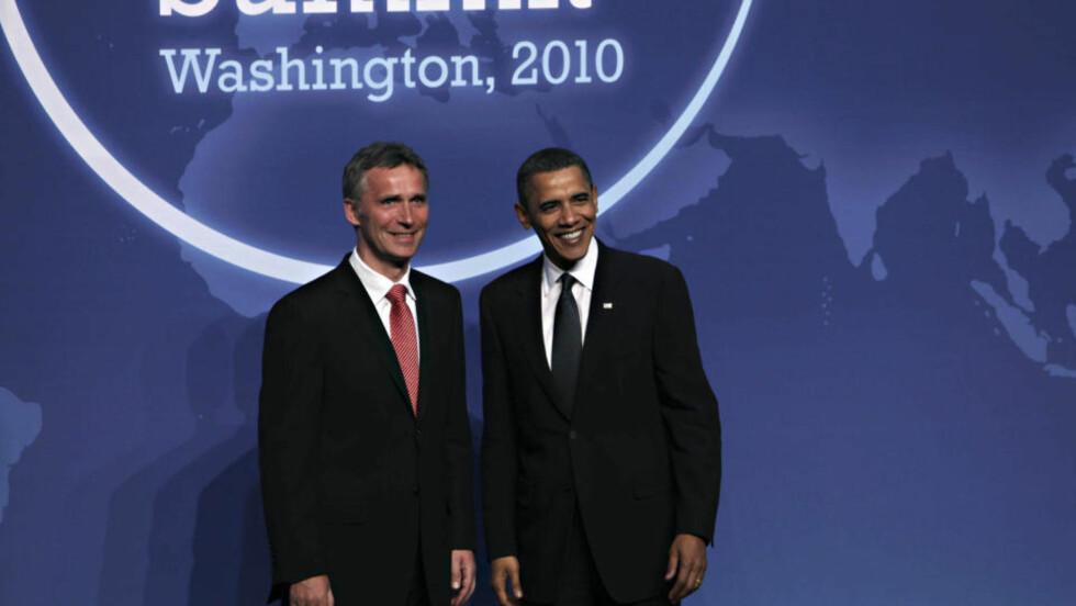 STØTTER OBAMA: Statsminister Jens Stoltenberg og USAs president Barack Obama. FOTO: Scanpix