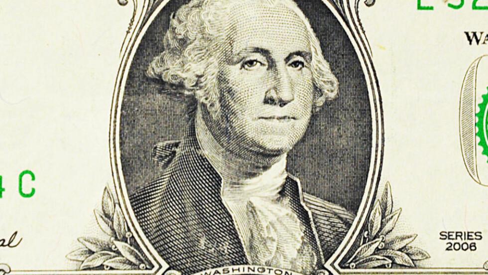 SLAPP LÅNER: George Washington (1732-99) var riktignok en stor statsmann, men noen god boklåner var han ikke. Foto: KAREN BLEIER/AFP/SCANPIX