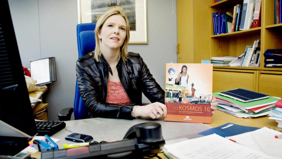 PROPAGANDA:  Frp-byråd og sentralstyremedlem Sylvi Listhaug mener hun har funnet skjult politisk propaganda i lærebøker. Foto: Elisabeth Sperre Alnes