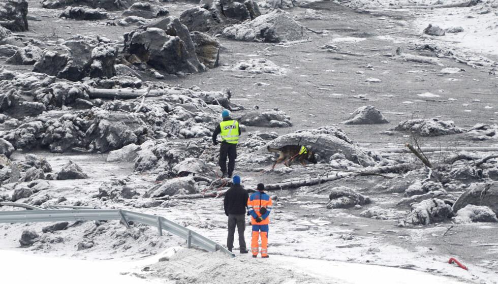GIGANTRAS: Leirraset i Sørum gikk 10. november. I dag ble én av tre antatt omkomne funnet.Foto: Thomas Rasmus Skaug / Dagbladet