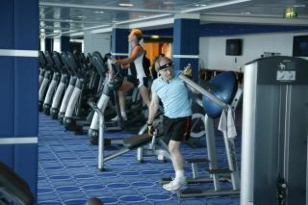 TRIM: Alle cruiseskip har egne treningsrom der overflødige kilo kan forsvinne.