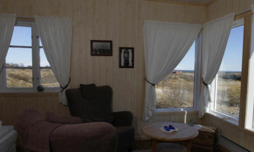 LÅNAN Dette rommet har utsikt mot havet og sommerens midnattsol.
