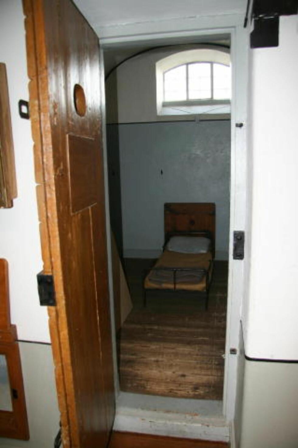 TØFFE TIDER:  Slik så de gamle cellene ut. I dag står det på museet i kjelleren.
