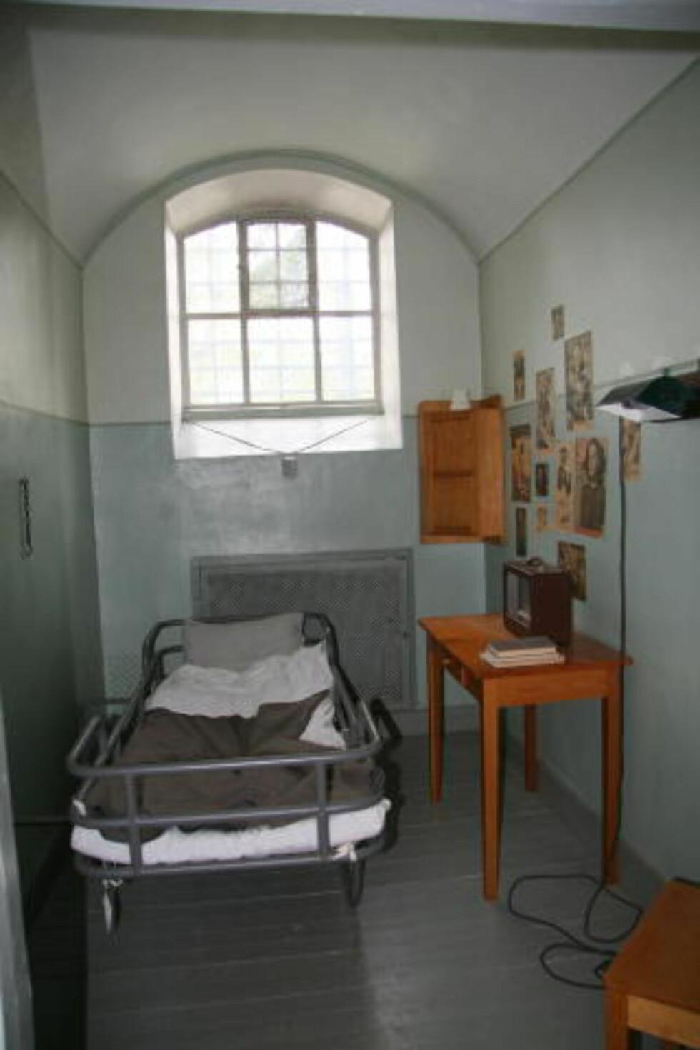 NYERE CELLE:  Her var det litt mer moderne, men frendeles trangt. Celle-straffen ble avskaffet i Sverige i 1945.