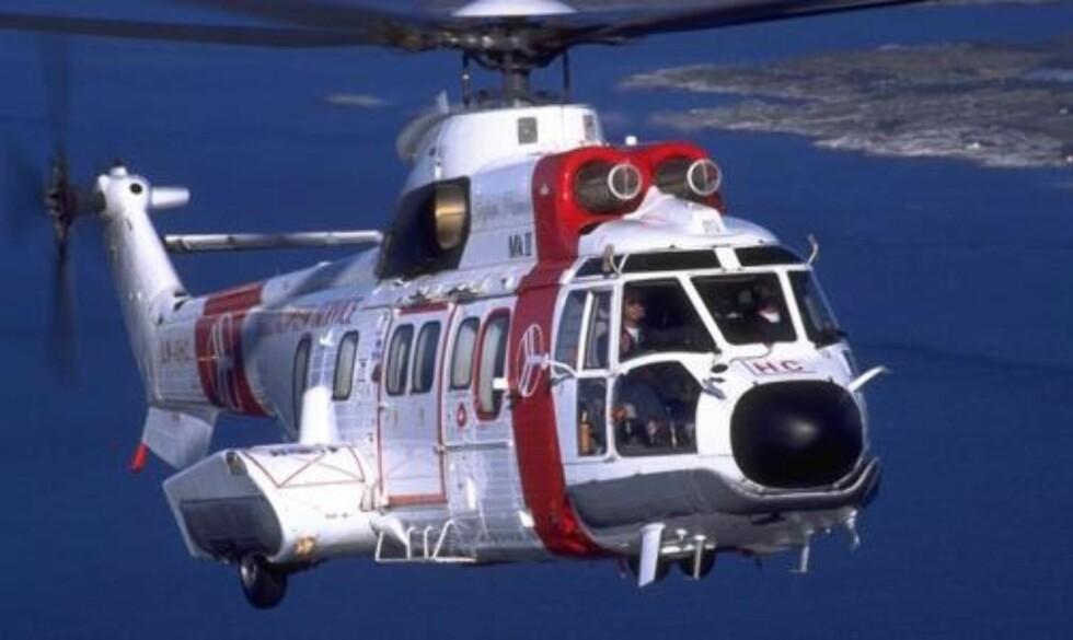 FARLIG ARBEID: At Super Puma-helikopteret er forbundet med mye støy er vel kjent. Ingen helikoptertyper som lages i dag har et tilrådelig støynivå. Foto: Scanpix