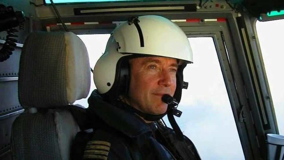 STØYSKADD: Amund-Ragnar Bjerkeseth fikk invalidiserende øresus på grunn av støyen i Super Puma-helikopteret. Den tidligere Nordsjø-piloten fikk millionerstatning etter mange års kamp. Foto: Privat