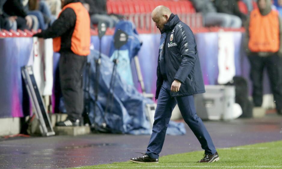 TAPTE IGJEN: Per-Mathias Høgmo hadde en ny, tung dag på jobb for fotballandslaget. Foto: Vidar Ruud / NTB scanpix