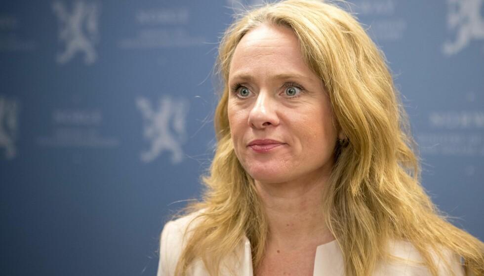 SATT NED UTVALG: Arbeids- og sosialminister Anniken Hauglie. Foto: NTB Scanpix