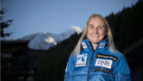 OVERRASKELSEN:  Maren Skjøld fra Gjøvik Skiklubb, her fra sesongåpningen i Sölden for to uker siden, fikk en perfekt start på slalåmsesongen. Foto: Bjørn Langsem / Dagbladet