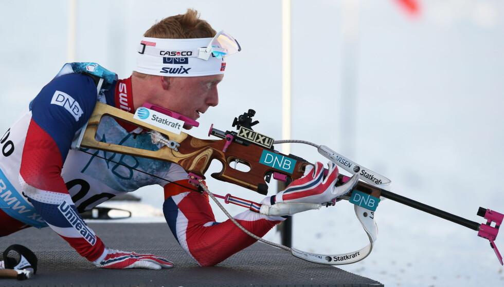 NULL BOM: Johannes Thingnes Bø gikk inn til en 2. plass i dagens sesongåpning på Sjusjøen. Foto: Berit Roald / NTB Scanpix