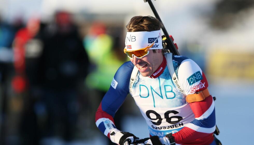 GIKK I GÅR: Men i dag står Emil Hegle Svendsen over rennet på Sjusjøen. Foto: Berit Roald / NTB Scanpix