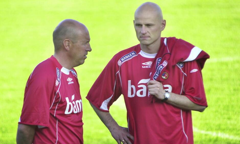 MØTTES I KØBENHAVN: Nils Johan Semb og Ståle Solbakken. Foto: Jarl Fr. Erichsen / SCANPIX