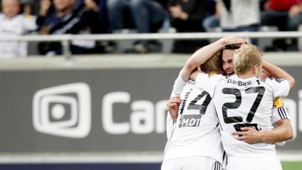 RBK-JUBEL: Vadim Demidov  satte inn 0-2-målet mot Stabæk i går. Foto: Kyrre Lien / Scanpix
