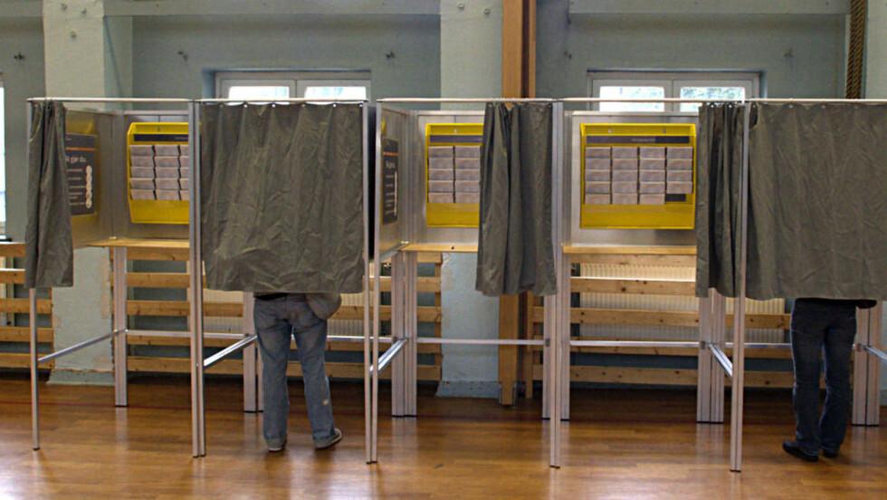 SPENNENDE TIL SISTE SLUTT: De som bestemmer seg i dag kan få stor betydning på valgresultatet - det samme kan forhåndsstemmerne. Foto: Morten Holm/Scanpix