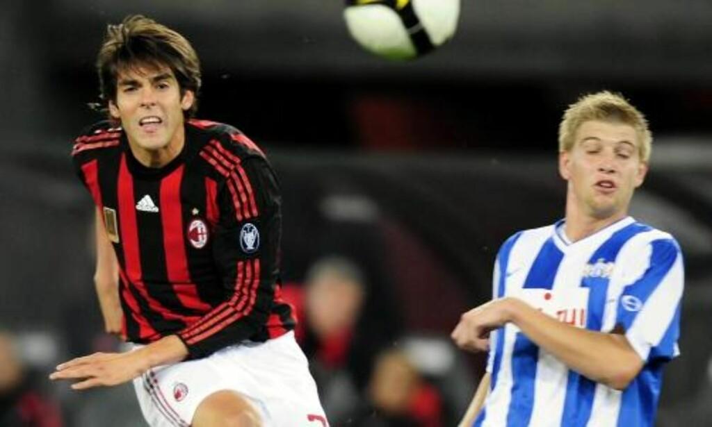 DRAKTSAMLERE: Da Zürich møtte Kaká og AC Milan i Uefa-cupen i fjor, var det flere sveitsiske spillere som avtalte draktbytter med italienerne allerede i pausen. Foto: AP