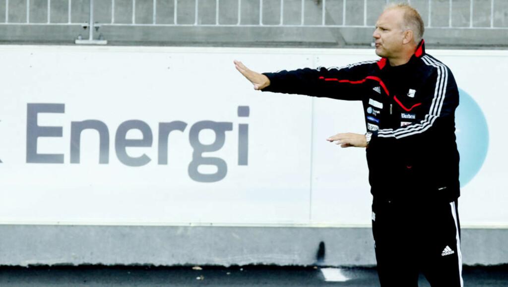 OPPGITT: Odd-trener Dag-Eilev Fagermo reagerer på at Stabæk driver talentjakt i Odd Grenlands nærområde. Tull, mener Stabæks sportsdirektør Lars Bohinen.  Foto: Kyrre Lien / SCANPIX .