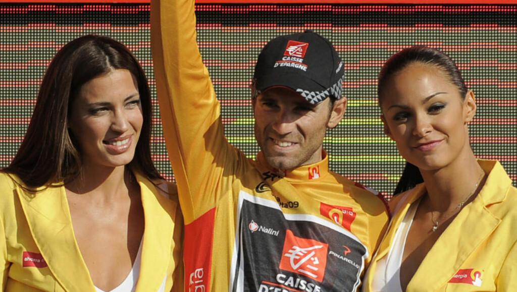 TIL TOPPS: Alejandro Valverde var suveren i Spania rundt og ble i dag kronet som vinner av treukersrittet. Foto: AP