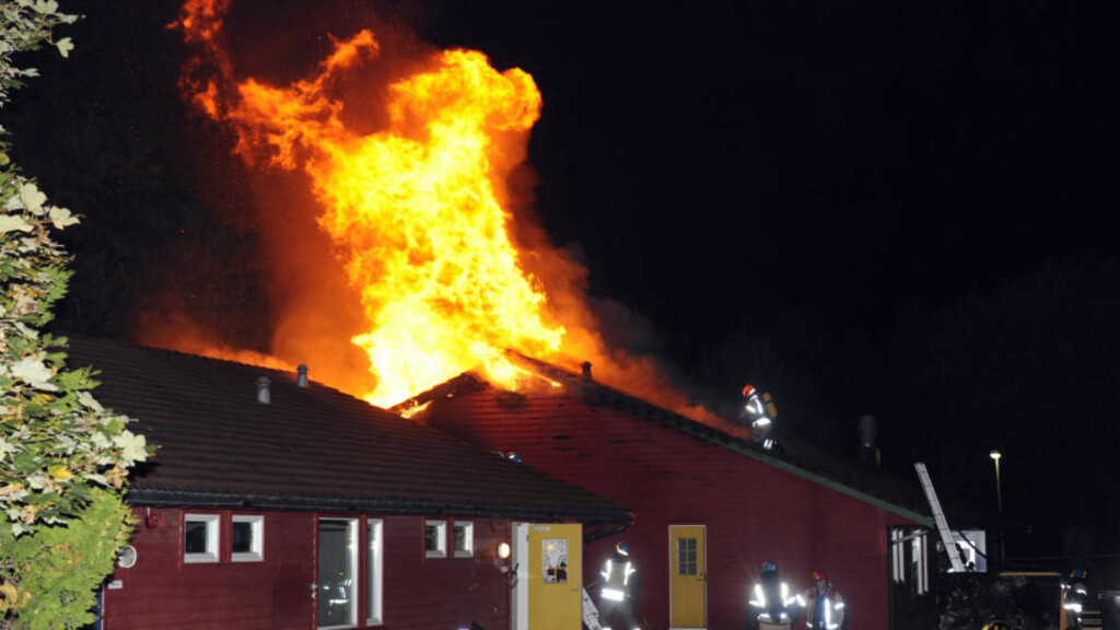 BARNEHAGE I FULL FYR: En brannstifter går løs i Sandnes. Foto: Thomas Walelrud Fosse