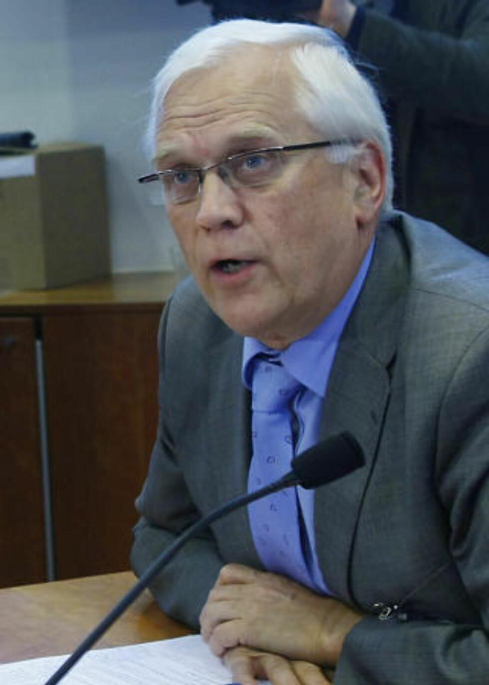FORSVARER SEMINARET: Rektor ved NTNU, Torbjørn Digernes støtter seminaret og understreker at han ikke ønsker akademisk boikott av Israel. Foto: Heiko Junge / SCANPIX .