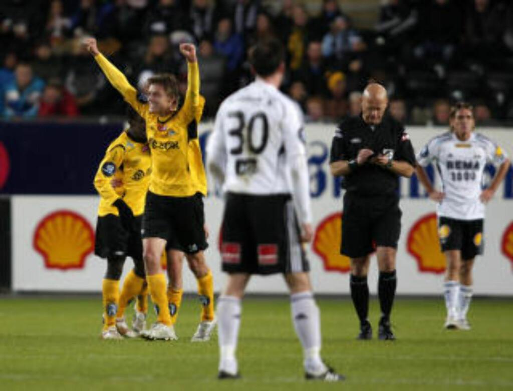 UTLIGNET: Mats Stokkeliens drømmescoring førte til 1-1 på Lerkendal. Enn så lenge. Foto: Gorm Kallestad / SCANPIX.